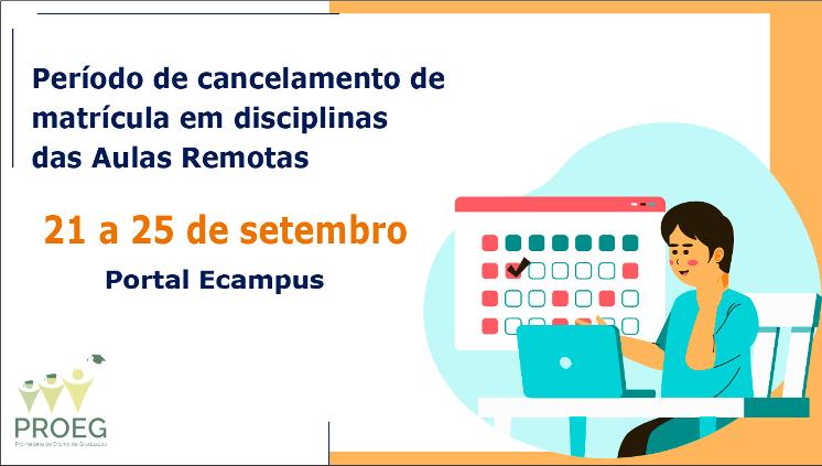 A partir de amanhã, 21 de setembro, Ecampus estará aberto para cancelamento de disciplnas